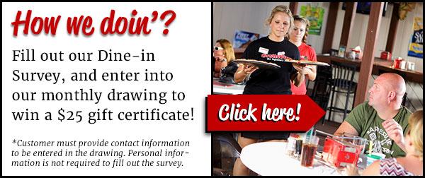 Takek our customer service survey.